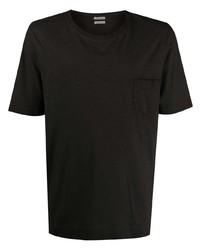 Camiseta con cuello circular negra de Massimo Alba