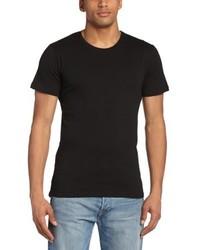 Camiseta con cuello circular negra de Minimum
