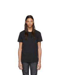 Camiseta con cuello circular negra de Naked and Famous Denim