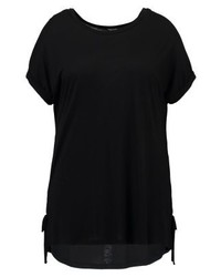 Camiseta con cuello circular negra de New Look