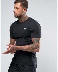 Camiseta con cuello circular negra de Nike