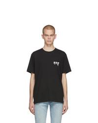 Camiseta con cuello circular negra de Rag and Bone