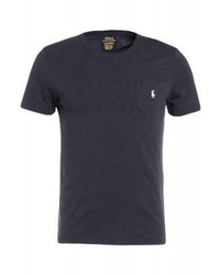 Camiseta con cuello circular negra de Ralph Lauren