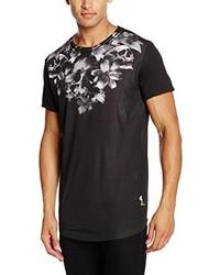 Camiseta con cuello circular negra de Religion