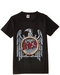 Camiseta con cuello circular negra de Rock Off