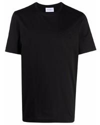 Camiseta con cuello circular negra de Salvatore Ferragamo