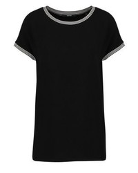 Camiseta con Cuello Circular Negra de someday.