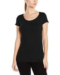 Camiseta con cuello circular negra de Stedman Apparel