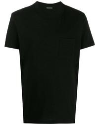 Camiseta con cuello circular negra de Tom Ford