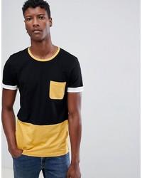 Camiseta con cuello circular negra de Tom Tailor