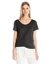 Camiseta con cuello circular negra de Vero Moda
