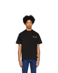 Camiseta con cuello circular negra de VERSACE JEANS COUTURE