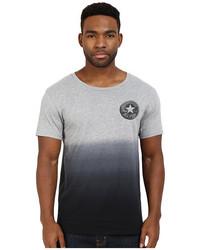 Camiseta con cuello circular ombre gris
