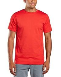 Camiseta con cuello circular roja de Anvil