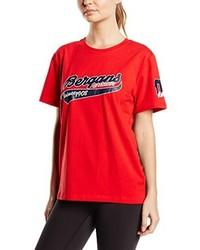 Camiseta con cuello circular roja de Bergans