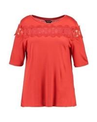 Camiseta con cuello circular roja de Dorothy Perkins