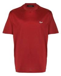 Camiseta con cuello circular roja de Ermenegildo Zegna
