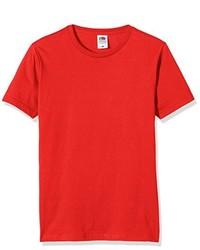 Camiseta con cuello circular roja de Fruit of the Loom