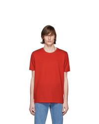 Camiseta con cuello circular roja de Hugo