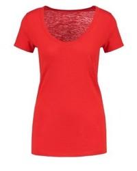 Camiseta con cuello circular roja de J.Crew