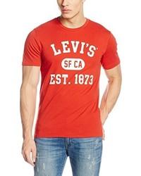 Camiseta con cuello circular roja de Levi's