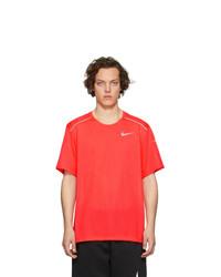 Camiseta con cuello circular roja de Nike