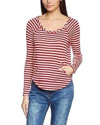 Camiseta con cuello circular roja de Roxy