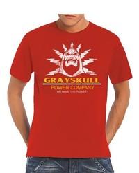 Camiseta con cuello circular roja de Touchlines