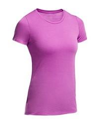 Camiseta con cuello circular rosa de Ice Breaker