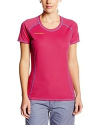Camiseta con cuello circular rosa de Mammut
