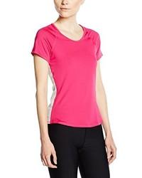 Camiseta con cuello circular rosa de Nike