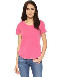 Camiseta con cuello circular rosa de Splendid