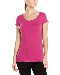 Camiseta con cuello circular rosa de Stedman Apparel