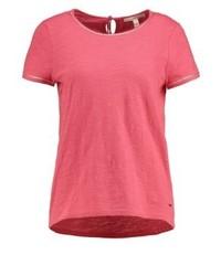 Camiseta con cuello circular rosa de Tom Tailor