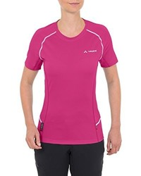Camiseta con cuello circular rosa de Vaude