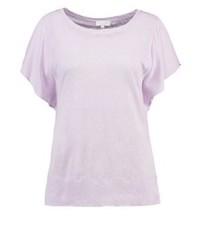 Camiseta con cuello circular rosada de Escada