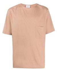 Camiseta con cuello circular rosada de Lemaire