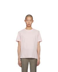 Camiseta con cuello circular rosada de Maison Margiela