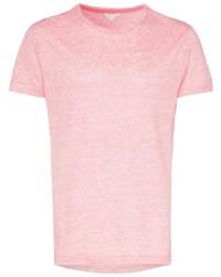 Camiseta con cuello circular rosada de Orlebar Brown
