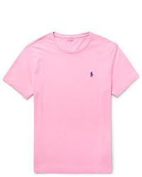 8ddb7efa26375 ... Camiseta con cuello circular rosada de Polo Ralph Lauren