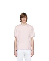 Camiseta con cuello circular rosada de Thom Browne