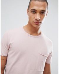 Camiseta con cuello circular rosada de Tom Tailor