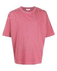 Camiseta con cuello circular rosada de YMC