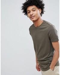 Camiseta con cuello circular verde oliva de ASOS DESIGN