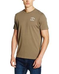 Camiseta con cuello circular verde oliva de Franklin & Marshall