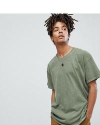 Camiseta con cuello circular verde oliva de Reclaimed Vintage