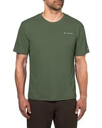 Camiseta con cuello circular verde oliva de VAUDE