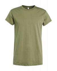 Camiseta con cuello circular verde oliva de Won Hundred
