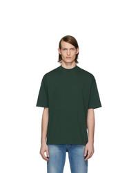 Camiseta con cuello circular verde oscuro de Balenciaga