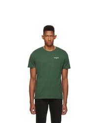 Camiseta con cuello circular verde oscuro de Harmony